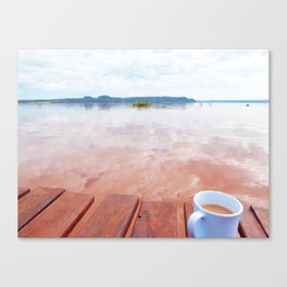 Breakfast by the river Canvas Print