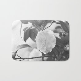 Once in a While - Black and White Flower Bath Mat