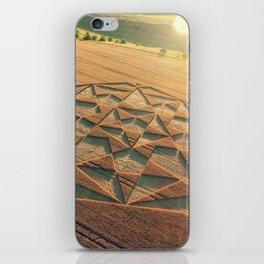 Crop Circle 2016 - Cherhill, Calstone, Wiltshire iPhone Skin