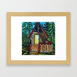 Ruby Lake Cabin Framed Art Print