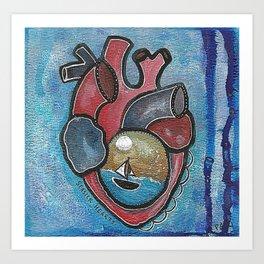 Seasick Hearts Art Print