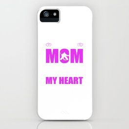 Hockey Goalie Moms Full Heart Mothers Day T-Shirt iPhone Case