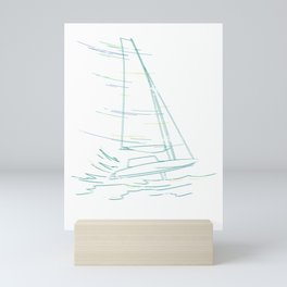Water Waves Athlete Sailing Mini Art Print