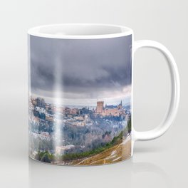 Segovia in Spain snowed in winter. Coffee Mug