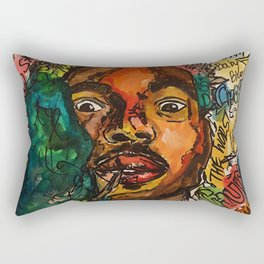 rapper,lyric,smoke,wall art,fan art,music,hiphop,rap,rapper,legend,shirt,print,chancee Rectangular Pillow
