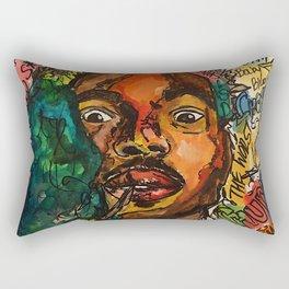 rapper,lyric,smoke,wall art,fan art,music,hiphop,rap,rapper,legend,shirt,print,chancee Rectangular Pillow