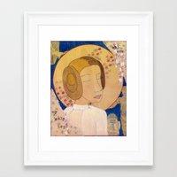 leia Framed Art Prints featuring Leia by LeaK Arts