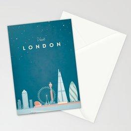 Vintage London Travel Poster Stationery Cards
