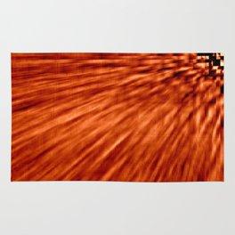 Burnt Orange Pixel Wind Rug