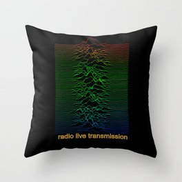 Radio Live Transmission Throw Pillow