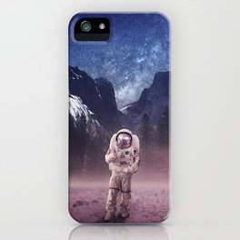 Exploring my own world iPhone Case