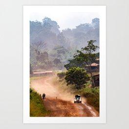 surfEXPLORE Gabon Art Print