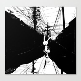 minima - beta bunny / noir Canvas Print