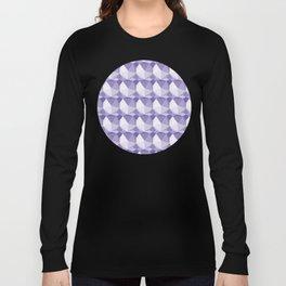 3D Optical Illusion: Purple Icosahedron Pattern Long Sleeve T-shirt