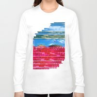 oslo Long Sleeve T-shirts featuring Beautifully Glitched Oslo, Norway by GlitchedGirl