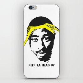 Keep Ya Head Up iPhone Skin