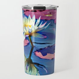 Water Lily In The Pond Travel Mug