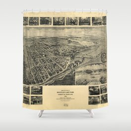 Bird's Eye View of Mountain Lake Park, Maryland (1906) Shower Curtain