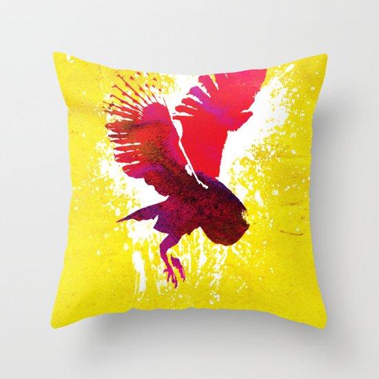 Natural Flight Throw Pillow