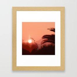 Cretan Sunset Framed Art Print