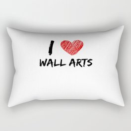 I Love Wall Arts Rectangular Pillow