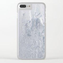 Splashing fountain Clear iPhone Case