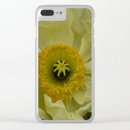 Yellow Cosmo Clear iPhone Case