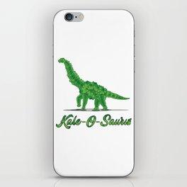 Kale Art for Vegans, Vegetarians & Dinosaur Lovers Light iPhone Skin