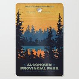 Algonquin Park Poster Cutting Board