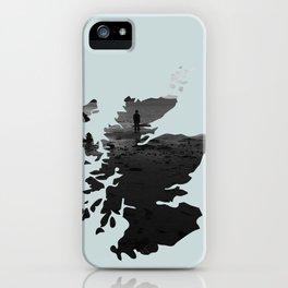 'Wandering' Scotland map iPhone Case