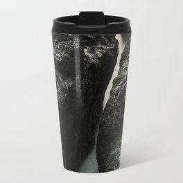 Cape Perpetua's Devil's Churn at Sunset Travel Mug