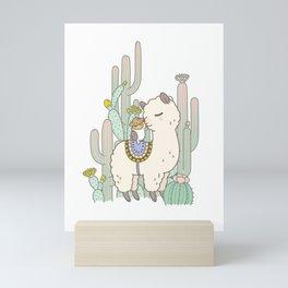 Alpaca Kiss Mini Art Print