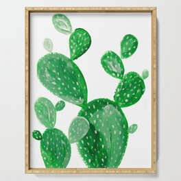 Green cactus Serving Tray