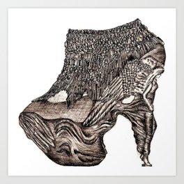 Tribute to McQueen Art Print