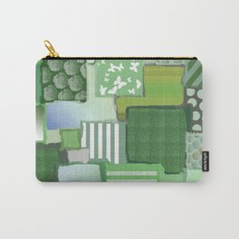 Sage Green Patchwork Carry-All Pouch