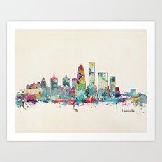 Louisville Kentucky skyline Art Print