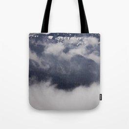 Cold Columbia Gorge Morning Staring Into Washington's Mountains Tote Bag