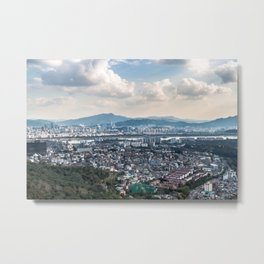 Seoul from Namsan Mountain Metal Print