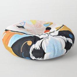 12,000pixel-500dpi - Hilma af Klint - Evolution, No. 13, Group VI - Digital Remastered Edition Floor Pillow