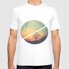 Colored Sky Mens Fitted Tee MEDIUM White