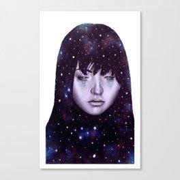 galaxy chick Canvas Print