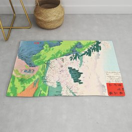 Kobayashi Kiyochika - Sketches of the Famous Sights of Japan - Mt. Yoshino - Digital Remastered Edition Rug