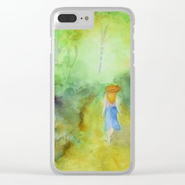 Down the Path Clear iPhone Case