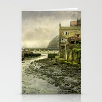 cassia beck Stationery Cards featuring The Beck at Staithes by tarrby/Brian Tarr