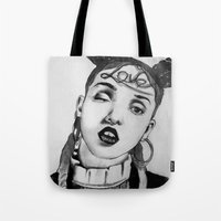 fka twigs Tote Bags featuring FKA Twigs  by Lacsid