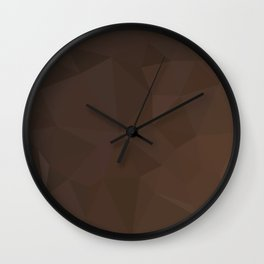 Dark Puce Brown Abstract Low Polygon Background Wall Clock