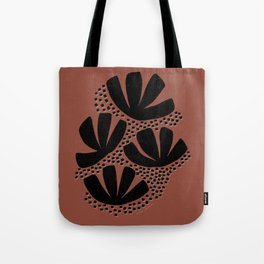 abstract foliage terra cotta Tote Bag