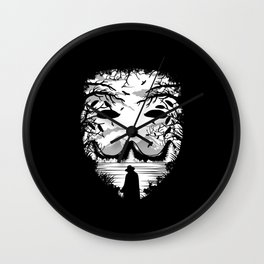 The Mask - Landscape Wall Clock