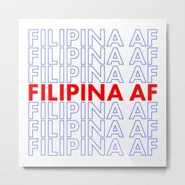 Filipina AF Metal Print