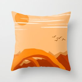 Minimalist Arches Throw Pillow